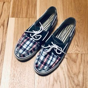 Sperry Top Sider Plaid Boat Shoe